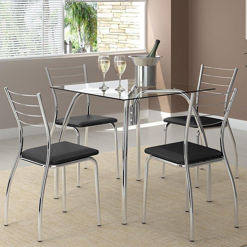 Conj. Mesa + Cadeiras Star Cromada Carraro