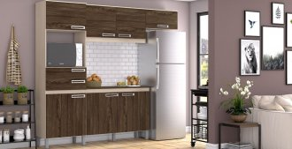 Cozinha Compacta Com Tampo 4 Peças B107