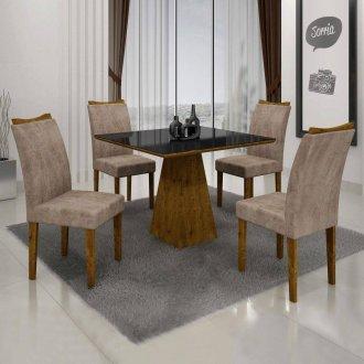 Mesa de Jantar Com 04 Cadeiras