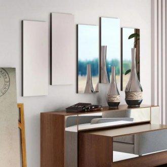 Painel Espelhado Onix Preto - Cel Móveis - Cel Moveis