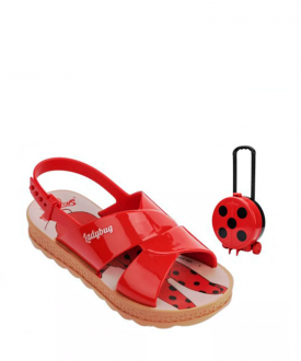 Sandália Rasteira Ladybug