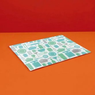 Tábua de Vidro Para Corte Retangular 25cm x 35cm - Verde
