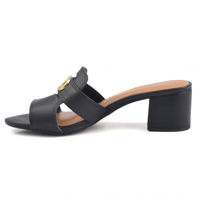 Scarpin Bebecê Bico Fino - Preto - Vanda Calçados