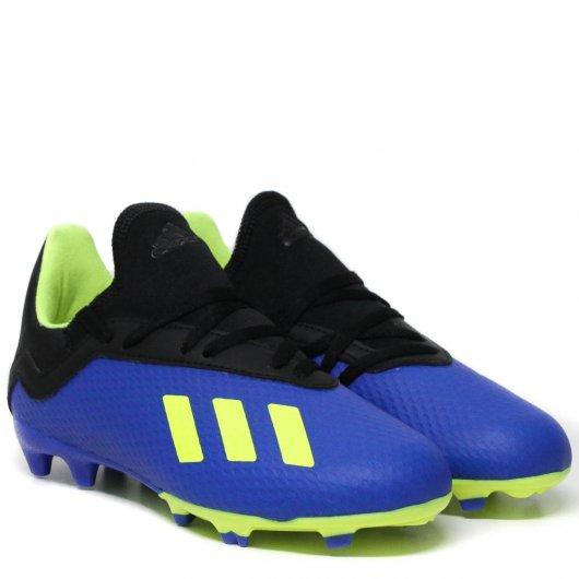 Chuteira Adidas X 18.3 FG J DB2416 - Lojas Leve 48e3fc378c8cd