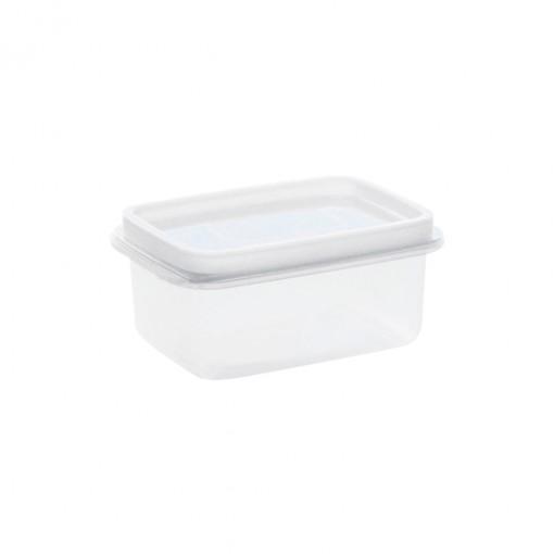 Pote de Plástico Retangular 450 ml Freezer e Micro-ondas