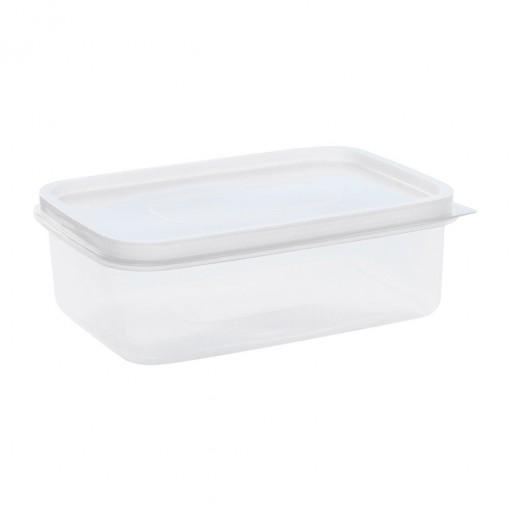 Pote de Plástico Retangular 1,8 L Freezer e Micro-ondas