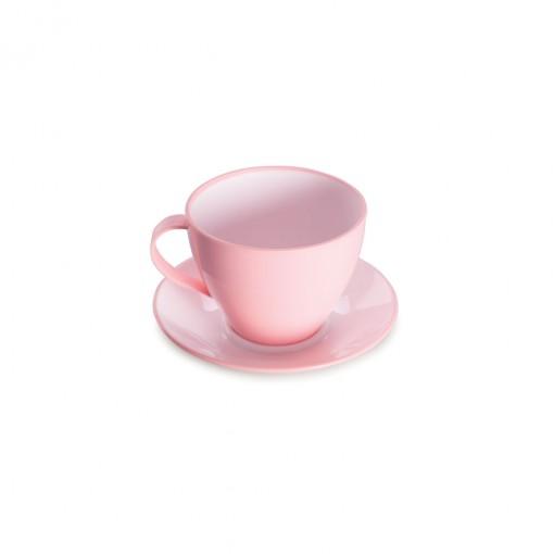 Xícara de Plástico de Chá 190 ml com Pires Duo 360°