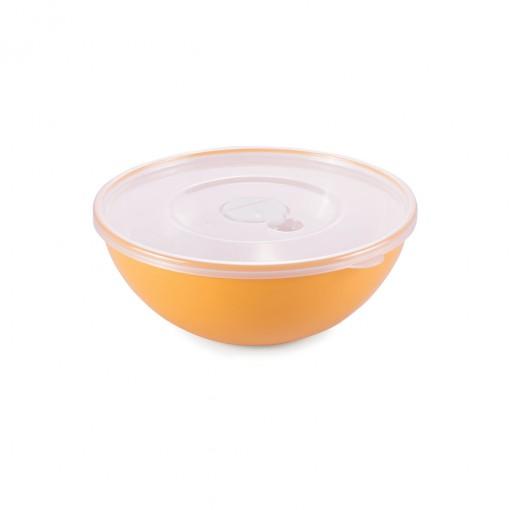 Tigela de Plástico 600 ml com Tampa e Válvula Duo 360°