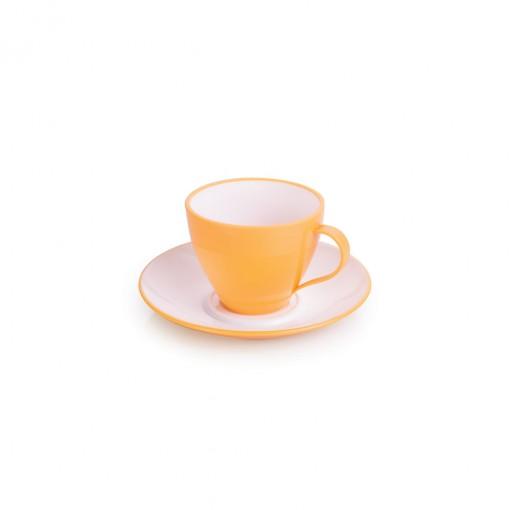 Xícara de Plástico de Café 100 ml com Pires Duo 360° Azul