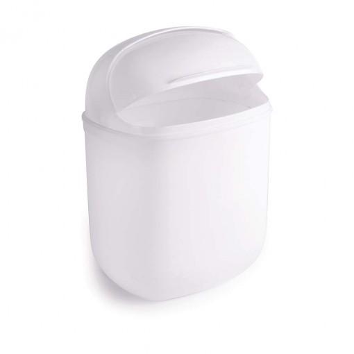 Lixeira de Plástico 12 L com Tampa Articulável Flip Top