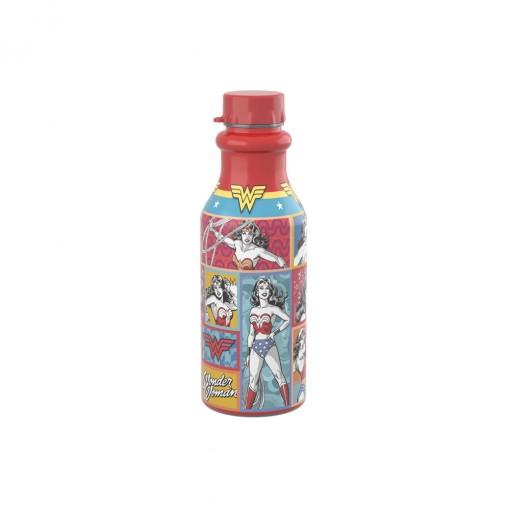 Garrafa de Plástico 500 ml com Tampa Rosca Retrô Mulher Maravilha