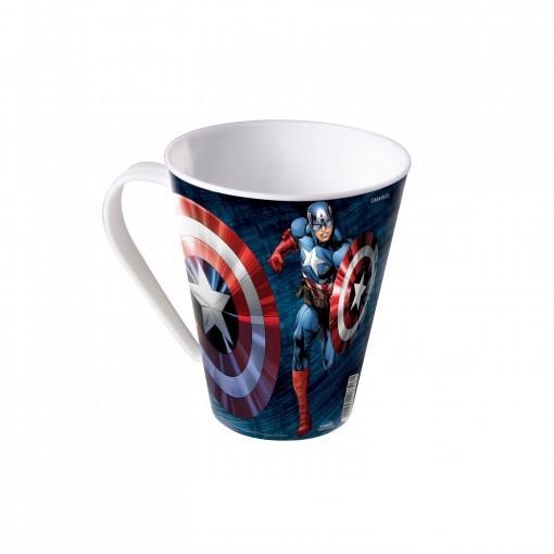 Caneca de Plástico 360 ml Avengers Capitão América