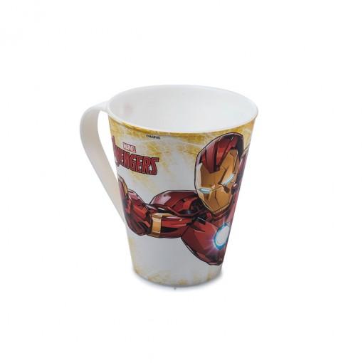Caneca de Plástico 360 ml Avengers Homem de Ferro