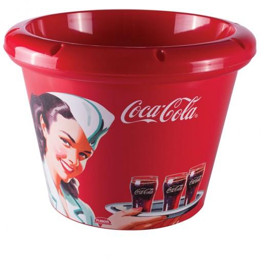 Balde para Gelo de Plástico 5,3 L Coca Cola