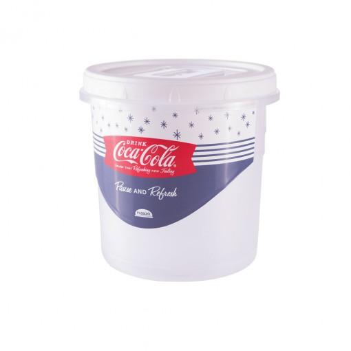 Pote de Plástico Redondo 1,8 L Rosca Coca Cola