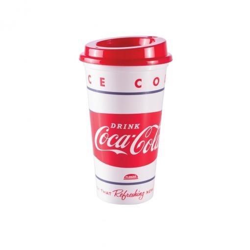 Copo de Plástico 500 ml com Tampa Café Coca Cola