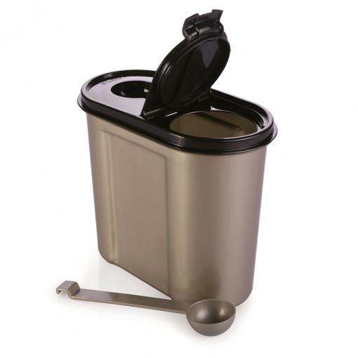 Pote de Plástico para Café e Açucar com Colher Tampa e Trava