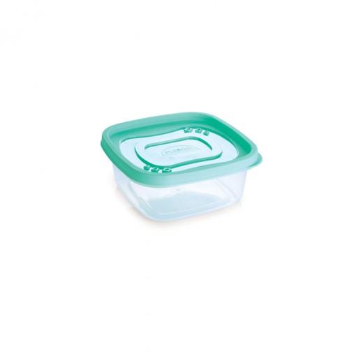 Pote de Plástico Quadrado 580 ml Clic