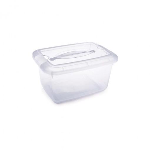 Caixa de Plástico Retangular Organizadora 5,2 L com Travas Laterais e Alça