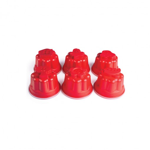 Potes para Gelatina de Plástico 6 Unidades Divertido