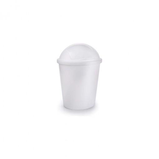 Lixeira de Plástico 4,9 L com Tampa Articulável Flip