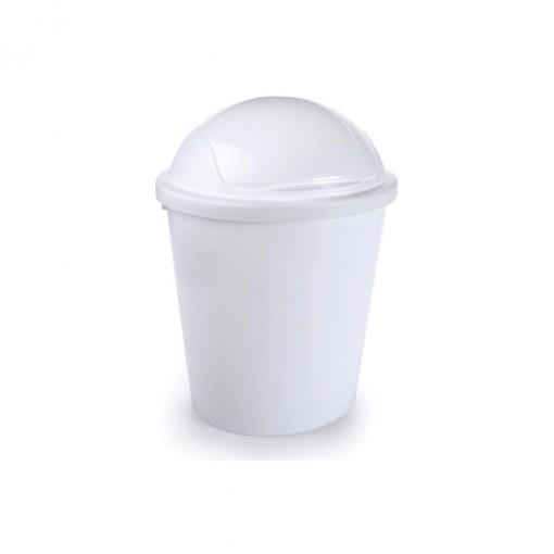 Lixeira de Plástico 11 L com Tampa Articulável Flip
