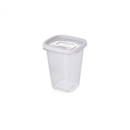 Pote de Plástico Quadrado 950 ml Clic