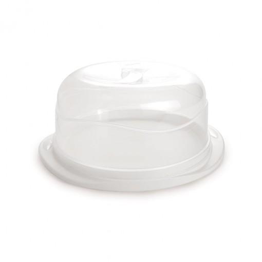Boleira de Plástico Redonda com Tampa Encaixável