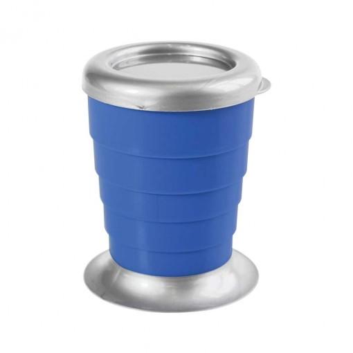Copo Retrátil de Plástico 330 ml com Tampa