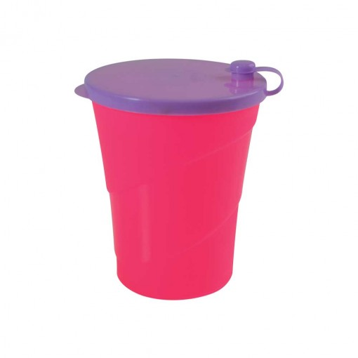 Copo de Plástico 500 ml com Tampa para Canudo