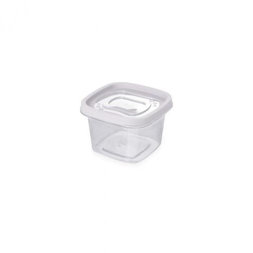 Pote de Plástico Quadrado 500 ml Clic