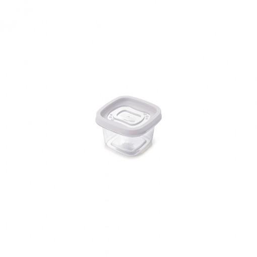 Pote de Plástico Quadrado 200 ml Clic
