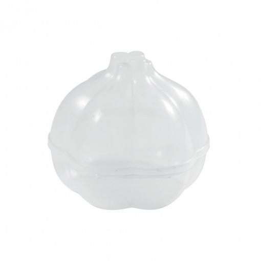 Pote de Plástico com Tampa Fixa em Formato de Alho