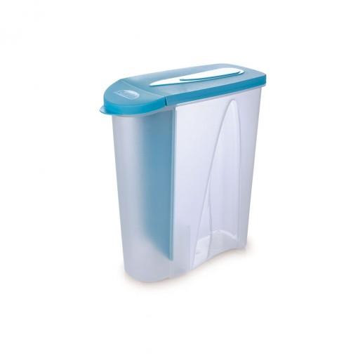 Porta Sabão em Pó de Plástico 1 Kg com Tampa e Dosador