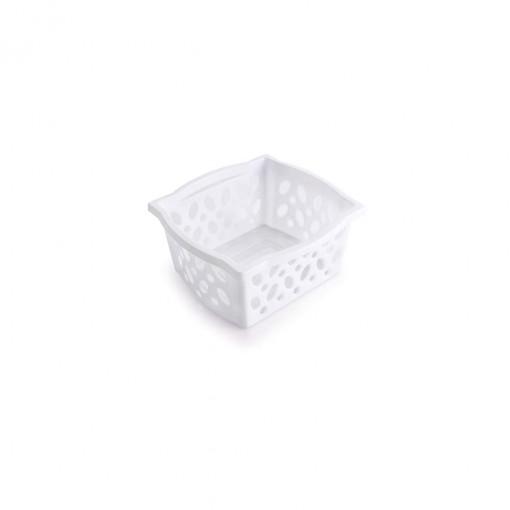 Cestinha de Plástico Retangular Organizadora Empilhável Pequena