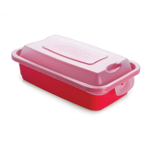Pote de Plástico Retangular 1 L com Travas Clic e Trave