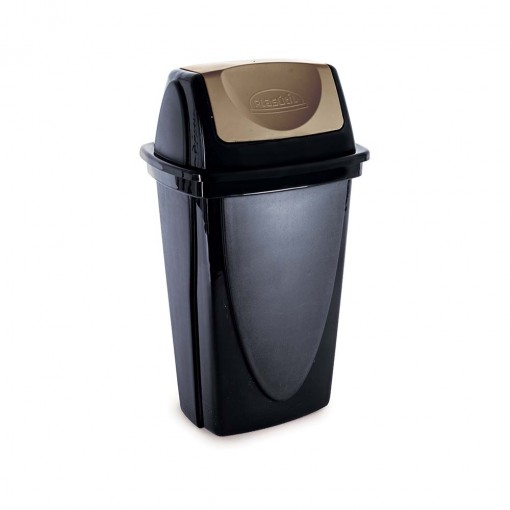 Lixeira de Plástico 9 L com Tampa Basculante Ecoblack