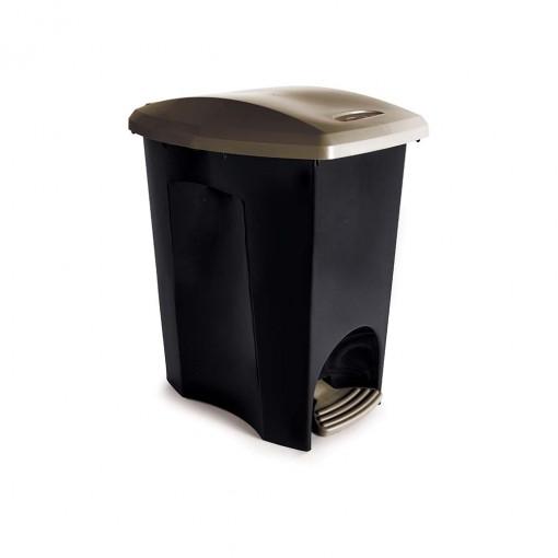 Lixeira de Plástico 15 L com Pedal Ecoblack