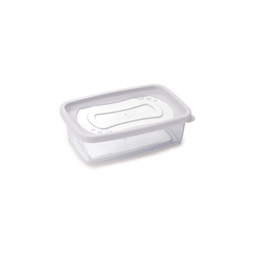 Pote de Plástico Retangular 620 ml Clic