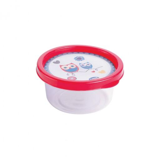 Pote de Plástico Redondo 250 ml Clic Coruja