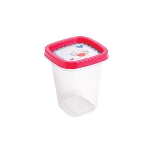 Pote de Plástico Quadrado 360 ml Clic Camomila