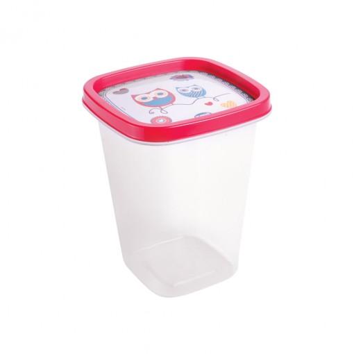 Pote de Plástico Quadrado 950 ml Clic Camomila