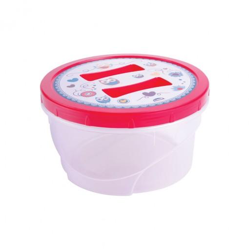 Pote de Plástico Redondo 1,4 L Rosca Camomila