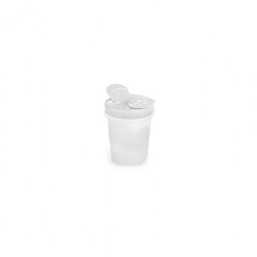 Porta Queijo Ralado de Plástico com Tampa Rosca