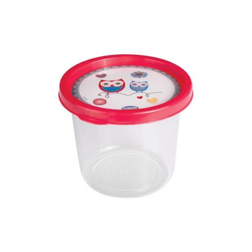 Pote de Plástico Redondo 480 ml Clic Coruja