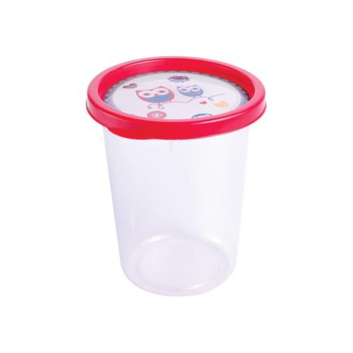 Pote de Plástico Redondo 680 ml Clic Coruja