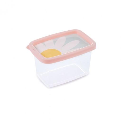 Pote de Plástico Retangular 430 ml Clic Camomila