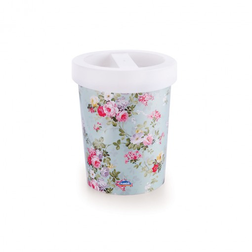 Lixeira de Plástico 5,5 L com Tampa Floral