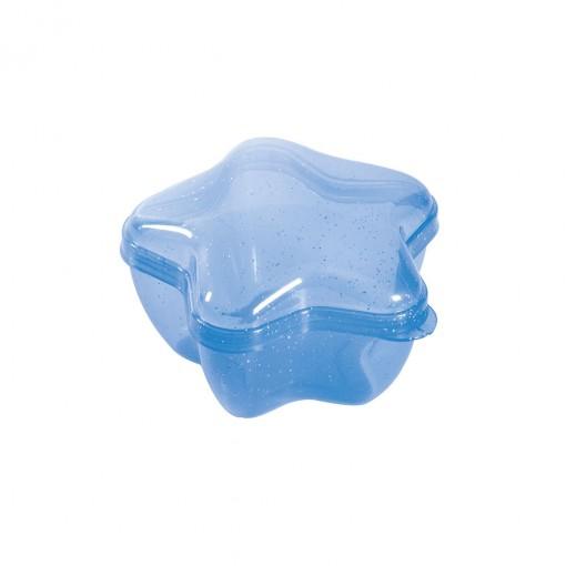 Pote de Plástico com Tampa Fixa em Formato de Estrela