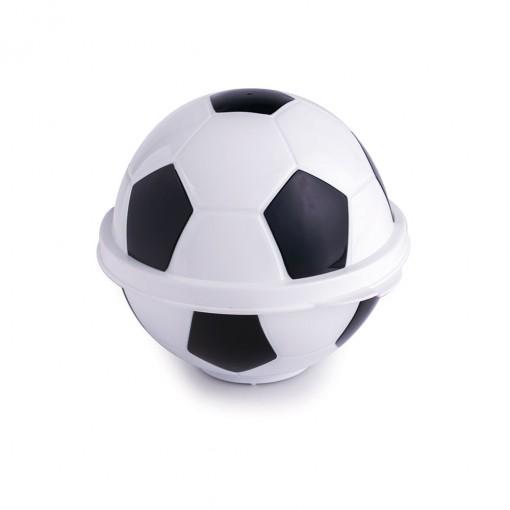 Pote de Plástico com Tampa Fixa em Formato de Bola de Futebol